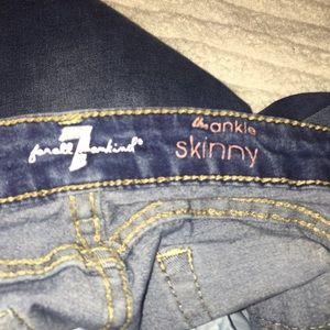 7 For All Mankind Bottoms - 7 For All Mankind girl skinny crop jeans!